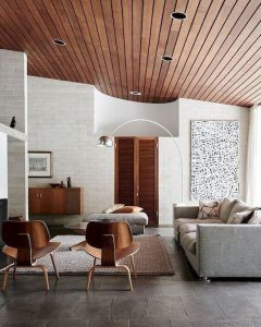 white-and-brown-living-room