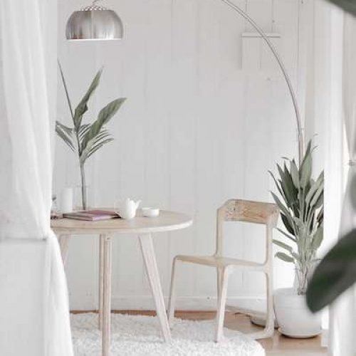 White-dining-area
